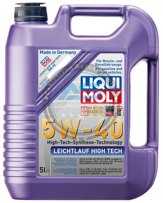 liqui moly motorov olej leichtlauf high tech 5w 40. Black Bedroom Furniture Sets. Home Design Ideas