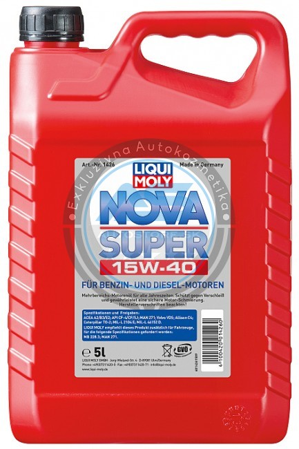 liqui moly motorov olej nova super 15w 40 autostore cz. Black Bedroom Furniture Sets. Home Design Ideas